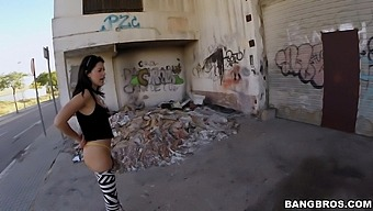 Incredible Fucking In Public Streets With Clothed Ava Dalush