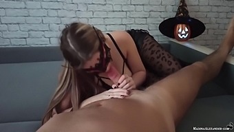 Lustful Witch On Halloween Suck For Sweets - Madina Alexander