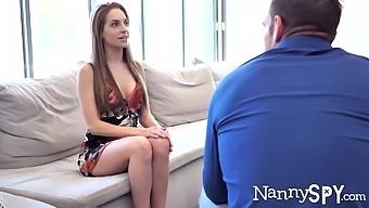 Babysitter Spy Cam Porn Video Featuring Lustful Teen Kimmy Granger