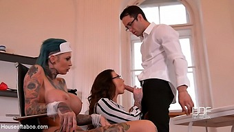 Harmony Reigns & Calisi Ink & Kai Taylor In Tattooed Nurses Gone Wild - Humiliation In The Doctor'S Office - Kink
