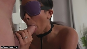 Blindfolded Jada Kai Gets Talked Into Riding A Friend'S Shaft