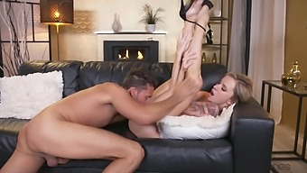 Deep Pussy Drilling For Tattooed Blonde Hottie Angel Piaff