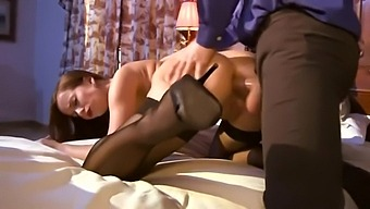 French Maid With Big Boobs Rides Huge Dick - Cindy Dollar