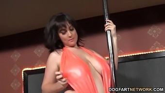 Big Tittied Stripper Beverly Paige Goes Wild In The Bbc Glory Hole Room