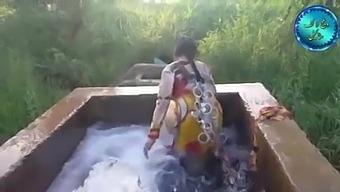 Pakistani Girl In Water Pool Washing