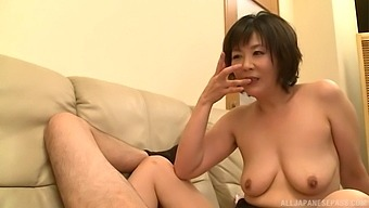 Naughty Enshiro Hitomi Loves Jerking A Cock With Her Boobies