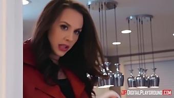 Nina North And Chanel Preston - Kinky Sluts Having Fun In The Kitchen
