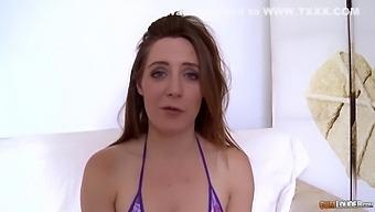 Double Dildo Lover Lands On Log - Ass 1st! - Samantha Bentley