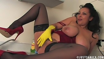 Nothing Pleases Sexy Danica Collins As Getting Messy In The Kitchen
