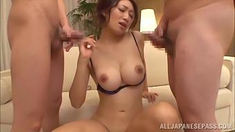 Two Guys Take Care Of Horny Japanese Beauty Reiko Kobayakawa