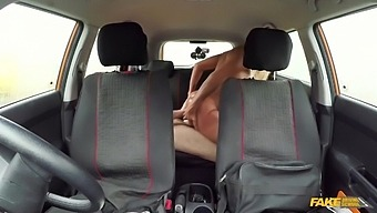 A Busty Wanton Wife Hooks Up With Her Driving Instuctor In The Car With Ryan Ryder