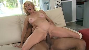 Mature Pornstar Erica Lauren Moans While Riding A Large Black Dick