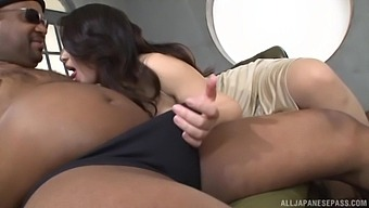 Cum Loving Japanese Slut Mako Oda Enjoys Sucking A Black Dick