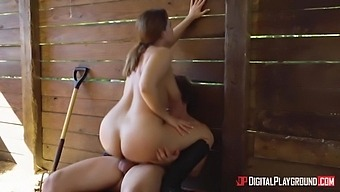 Natasha Nice In Slut With Huge Natural Tits Fucked After A Horse Ride