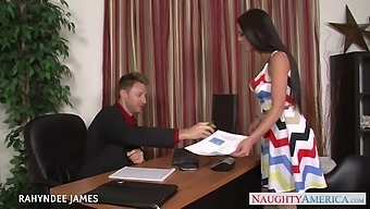 Strict Boss Fucks Pretty Young Secretary In Tipped Pantyhose Rahyndee James