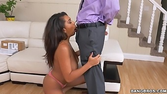 Hardcore Fucking In The Living Room With Black Butt Katt Garcia