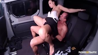 Business Woman Morgan Rodriguez Bangs Wih Uber Driver And Gets Cum Inside