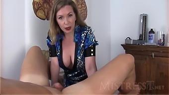Mistress T Femdom Handjob Sit Back
