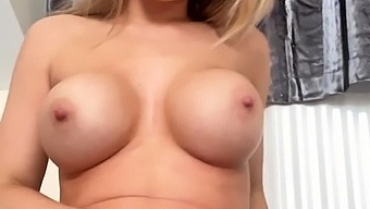Shaved Pussy Blonde Tasha Reign With Big Boobs Goes Solo