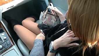Naughty Babe Chanel Kiss Gets Her Wet Pussy Pounded In The Car