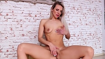 Skinny Blonde Mature Bianca Ferrero Plays With Her Pussy At Home