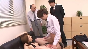Naughty Japanese Chick Yui Hatano Fucked Hard In The Office