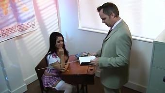 Pulling Up Her  Skirt Eva Angelina Big Co
