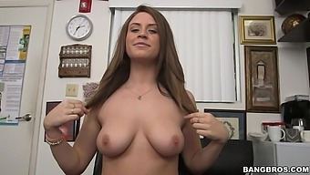 Provocative Amateur Delilah Blue Drops On Her Hands And Knees For Doggy