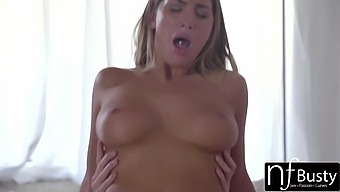 Bosomy Wife August Ames Goes Wild On Hard Dick After Blowjob Session