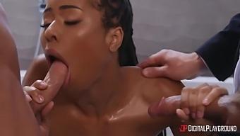 Sexy Ebony Kira Noir Gets Fucked Hard By Tattooed St