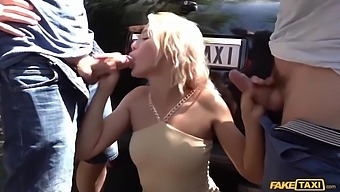 Blonde-Haired Tart Cherry Kiss Is Picked Up For Anal Sex In A Taxi Cab