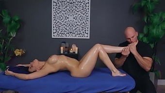 Tanned Pornstar Rachel Starr And Her Lovely Oiled Ass On Massage Table