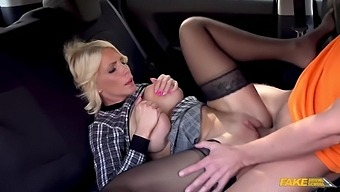 Ricky Rascal, Tiffany Rousso And Tiffany In A Busty Cougar And A Driving Instructor Make Love In The Car