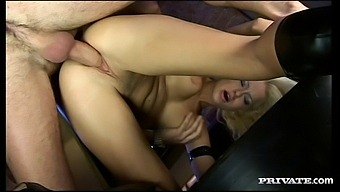 Mmf Threesome With Spit-Roast And Ass Fucking For Stacy Silver