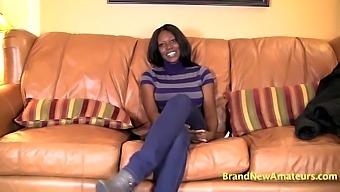 Ebony Milf With Big Tits Jasmine Blows White Dick