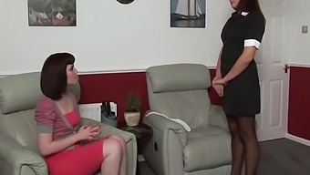 Female Boss Spanks Her Maid