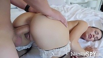 Busty Babe In Sexy Stockings Aidra Fox Gives Head And Rides Cock