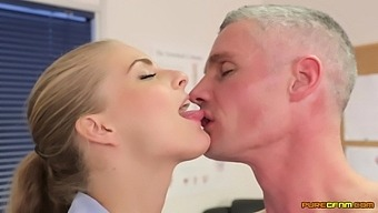 Skinny Older Guy Gets His Dick Sucked By Cathy Heaven And Cayenne Klein
