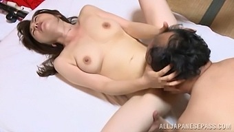 Nude Old Japanese Lady Gets The Dick Firmyl In Her Twat