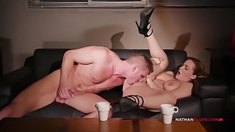 Naturally Busty Natasha Nice Pounded By Marc Rose After Work And He Cums All Over Her Boobs
