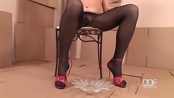 Odette On High Heels - Foot Fetish Solo