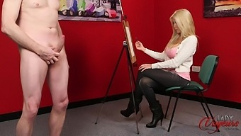Cfnm Video Of Sexy Emma C Painting A Naked Male Model. Hd
