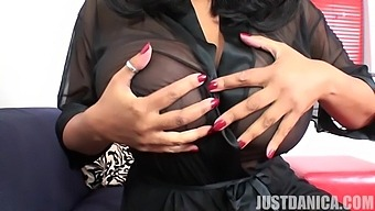 Busty Chick Danica Collins Likes To Strip And Tease With Her Tits
