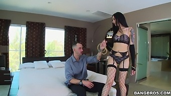 Small Tits Chick Marley Brinx Enjoys Teasing With Stockings And Lingerie