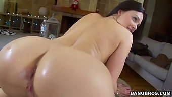 Sweet Chick Aletta Ocean Drills Her Tight Ass With A Long Toy