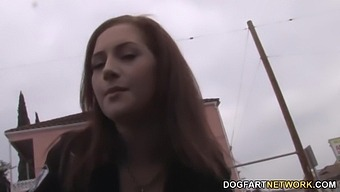 Ginger Girlfriend Cameron Love Gives A Blowjob And Gets Balcked In Hot Pov Video