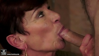 Dirty Granny Angela Reed Spreads Her Legs To Ride A Younger Lover