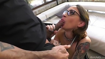 Rough Fucking In All Holes With Cum In Mouth For Malena - Interracial