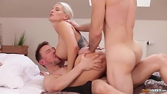 Fucking Awesome Busty Milf Blanche Bradburrygets Double Penetrated