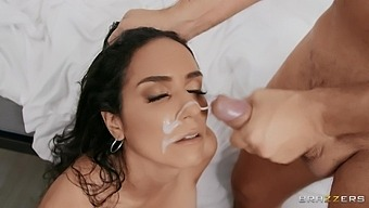 Stunning Neighbor Tia Cyrus Teases With Lingerie And Gets Fucked Hard